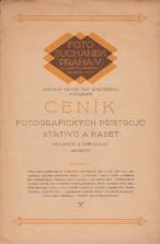 Ceník fotografických přístrojů, stativů a kaset